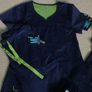 Grey's Anatomy Other - XS Navy Scrubs Bundle!! Brand New With Tags